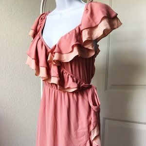Designer Dress* Rebecca Minkoff Ruffle Wrap Dress